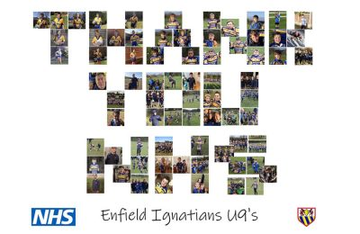 Enfield Ignatians Rugby Club raises four figure sum for the NHS