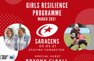 Saracens Girls Resilience Programme – registration now open